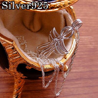 【メール便配送】シルバー925 エンジェルモニュメントネックレス スワロフスキー使用 ブランド Lord of Silver