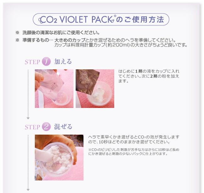 CO2 VIOLETPACKの使用方法1