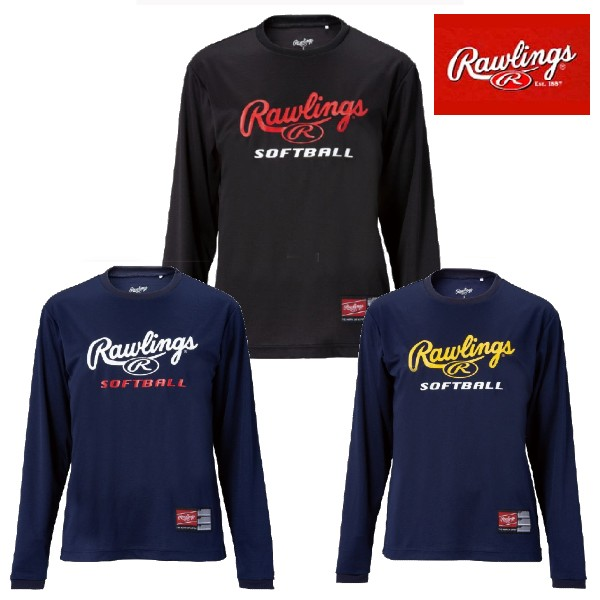 【あす楽対応】ローリングス Rawlings 長袖Tシャツ レディース