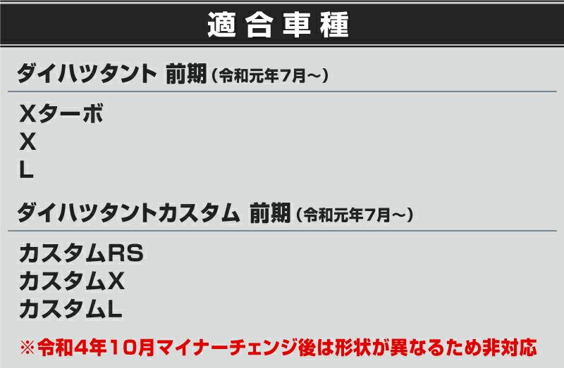 ダイハツ 新型タントカスタム LA650/660S ラゲッジスカッフプレート