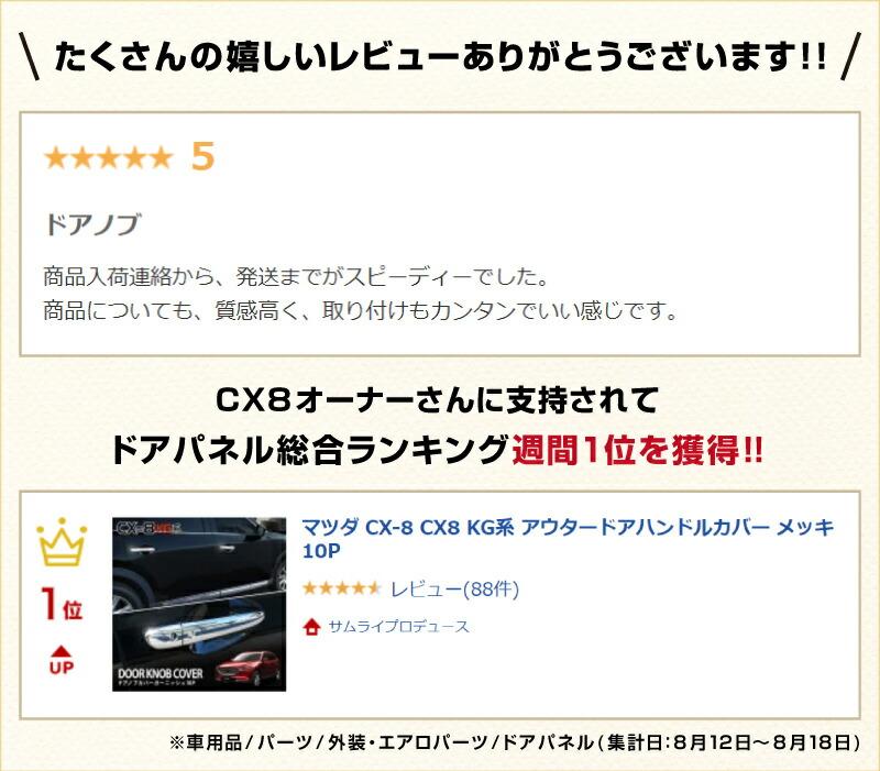 CX-8カスタム・ドアハンドルカバーガーニッシュ