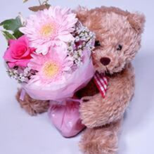 花瓶の要らない花束&クマさん