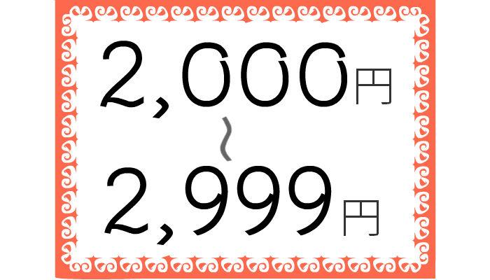 2999円以下