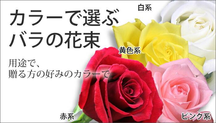 カラーで選ぶバラの花束