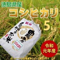 令和元年年産 新米 徳島県産コシヒカリ5kg