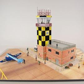 みにちゅあーとキット/航空情景シリーズ/管制塔type-Aカスタム例