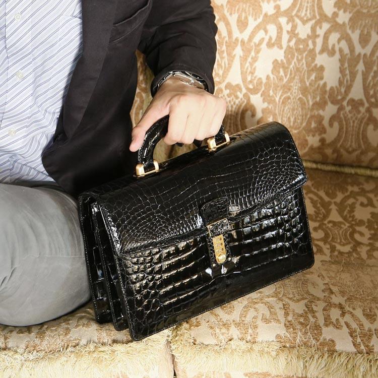 ナイルクロコダイルセカンドバッグ