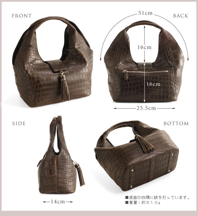 クロコダイル ハンドバッグ マット