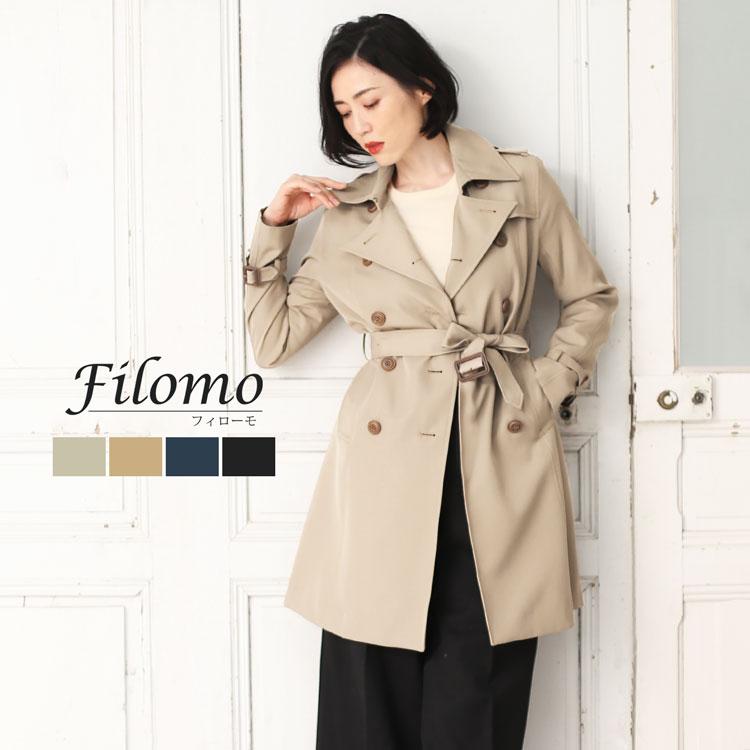 [Filomo]フィローモ トレンチ コート ベーシック デザイン 弱撥水加工 / レディース
