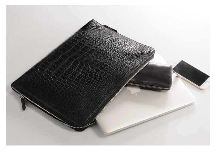 クロコダイル クラッチバッグ メンズ A4対応 パソコン ケース