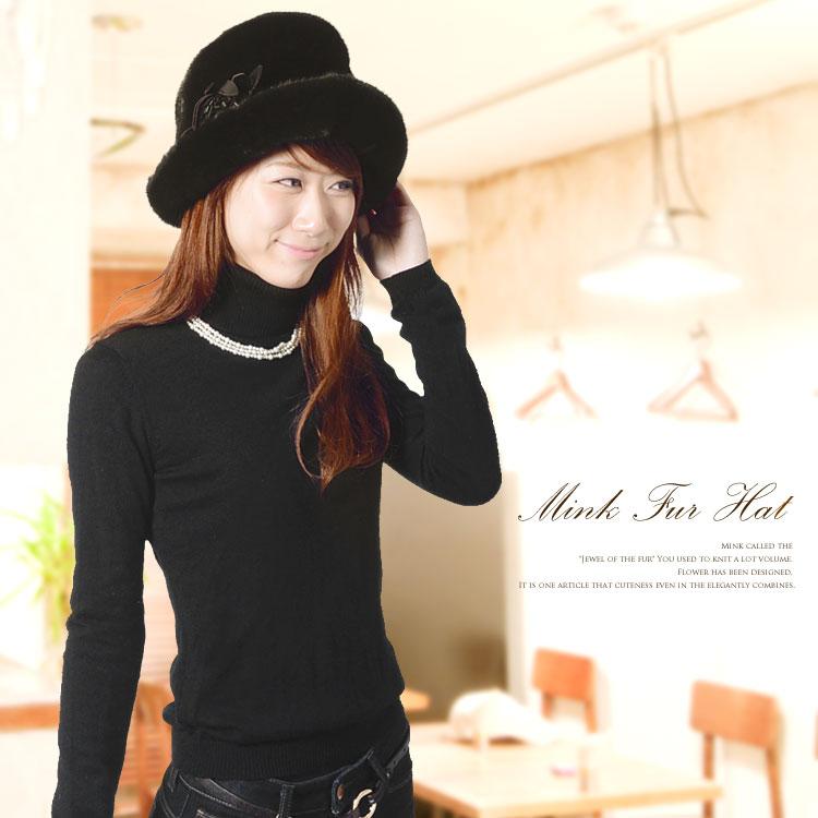 ミンク ハット 帽子