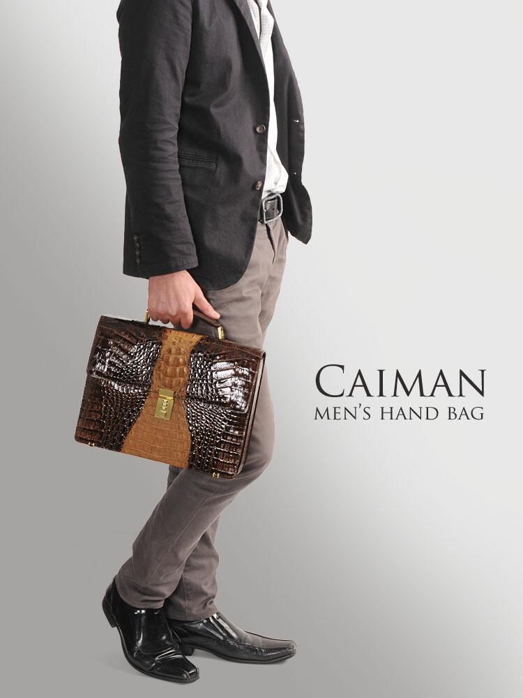 カイマン ハンドバッグ セカンドバッグ