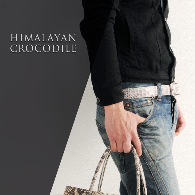 メンズ 紳士用 ヒマラヤクロコダイル ベルト