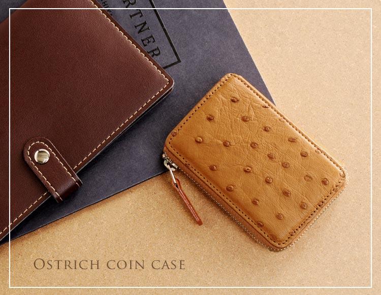 オーストリッチ財布 小銭入れ コインケース
