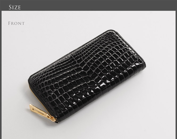 クロコダイル レディース 財布 サイズ