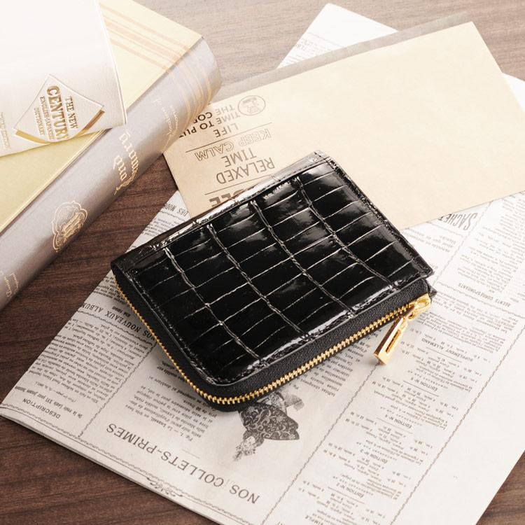 d7ca19225bb3 楽天市場】クロコダイル コンパクト 財布 L字 ファスナー式 ヘンローン ...