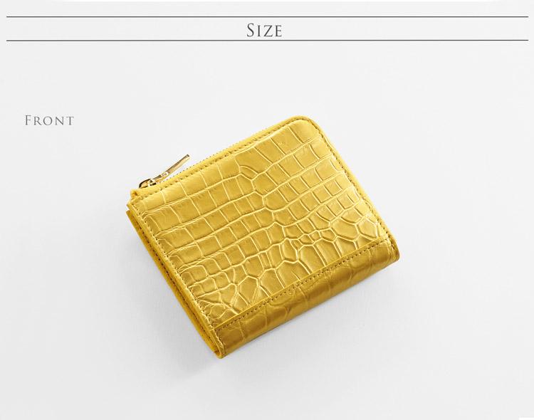 5b28e0a0914c ナイル クロコダイル コンパクト 財布 L字 ファスナー レディース クロコダイル レディース 財布 サイズ