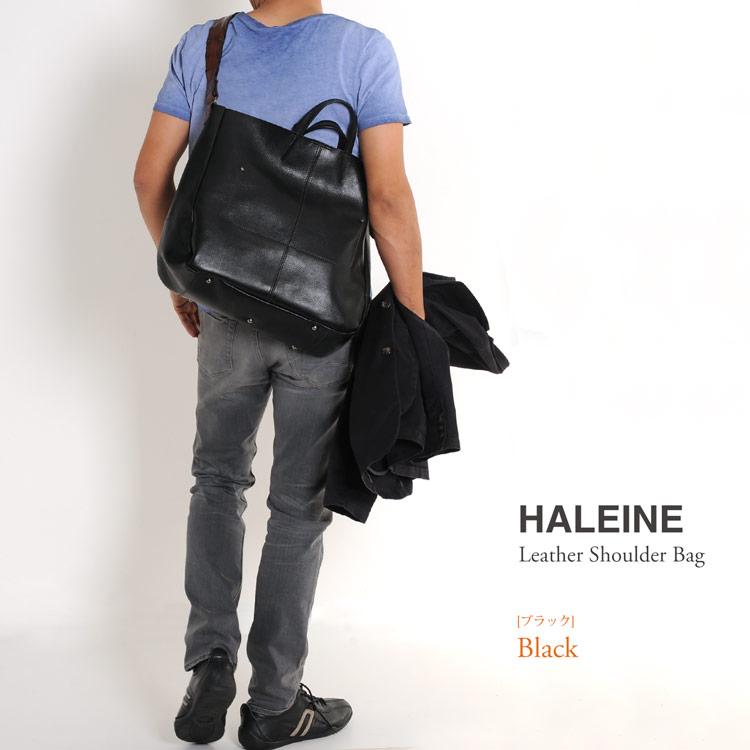 HALEINE[アレンヌ] 牛革 ショルダーバッグ イタリア製 牛革ベルト 日本製 / レディース オレンジ