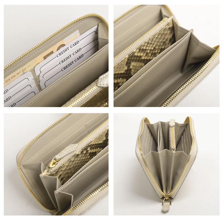 紙幣、小銭、カードやチケットがきちんと収納できる