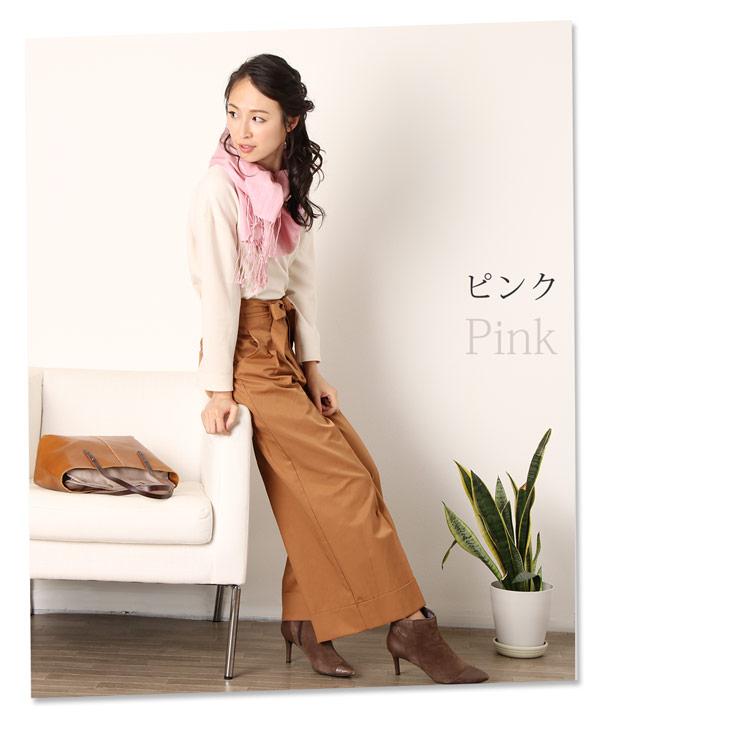 カシミヤ シルク ストール 女性用 マフラー ピンク