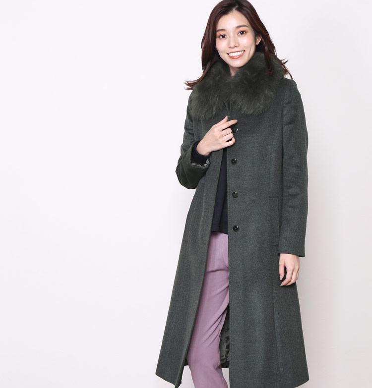 カシミヤ ロングコート