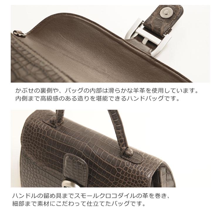 スモール クロコダイル ポロサス ハンドバッグ 2WAY