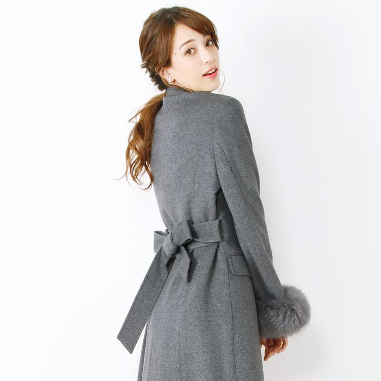 カシミヤ ブレンド コート ベルト Filomo