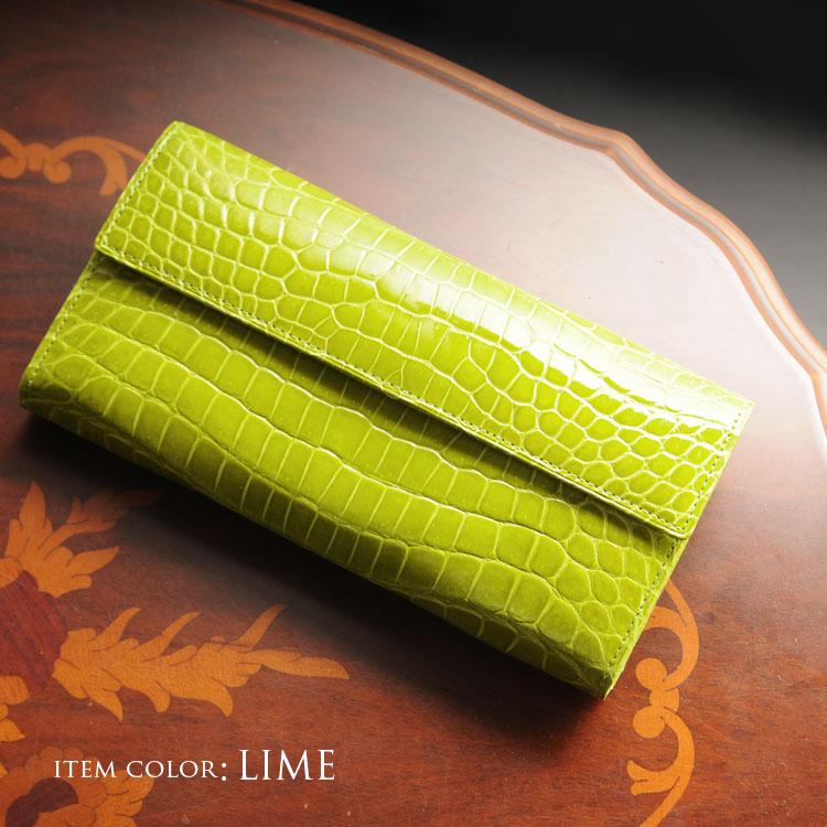 日本製 長財布 本革 クロコダイル レディース 財布