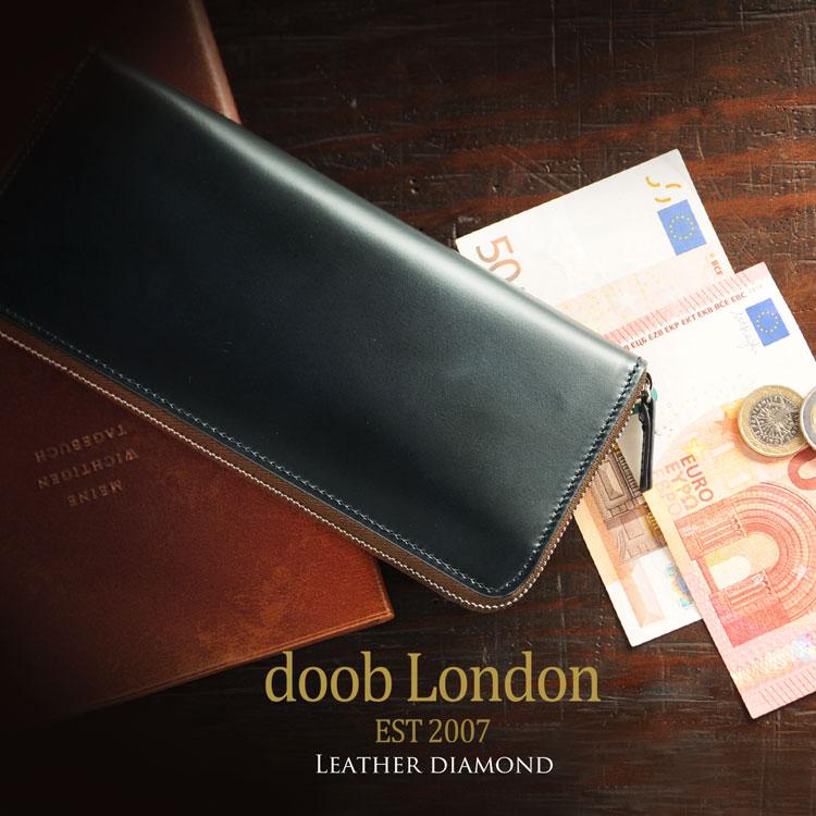 doob london ブランド メンズ 長財布 ネイビー