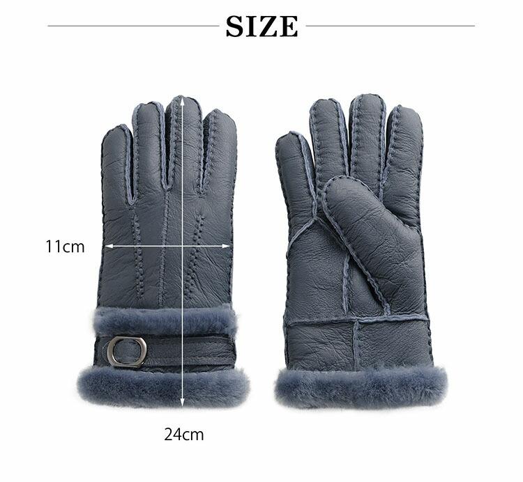 ムートン グローブ 手袋 ダブルフェイス レディース サイズ
