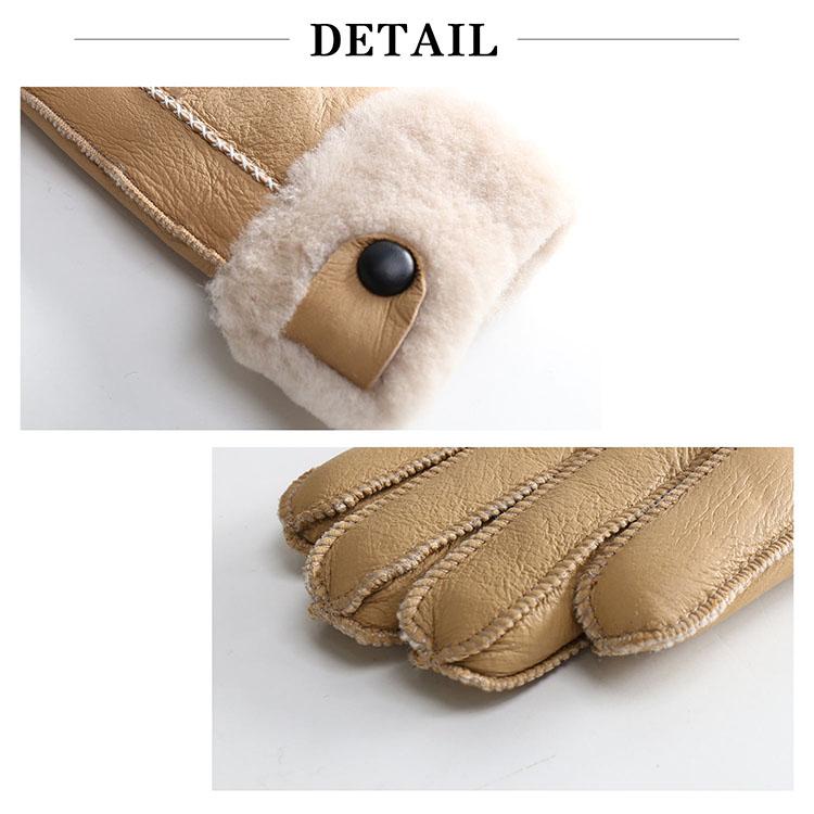 ムートン グローブ 手袋 マチ付き ダブルフェイス レディース