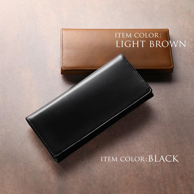 コードバン 長財布 doob London メンズ 本革 ブラック