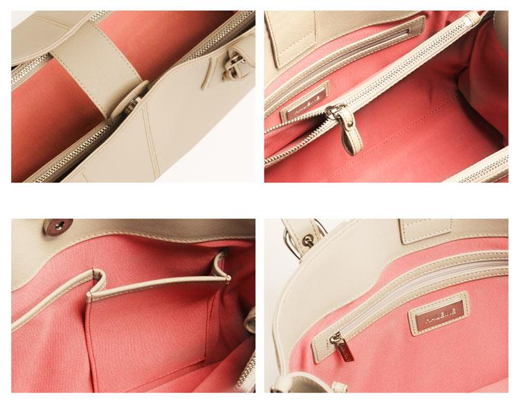荷物をきちんと整頓できる通勤バッグ
