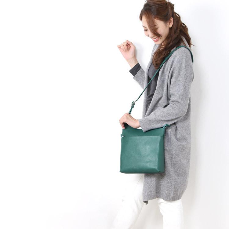 本革 シンプル 斜め掛け バッグ 日本製