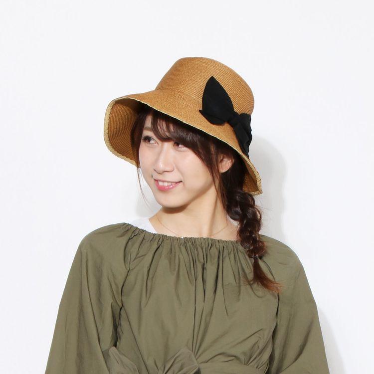 麦わら ブラウン 日よけ 帽子 ハット 夏 紫外線