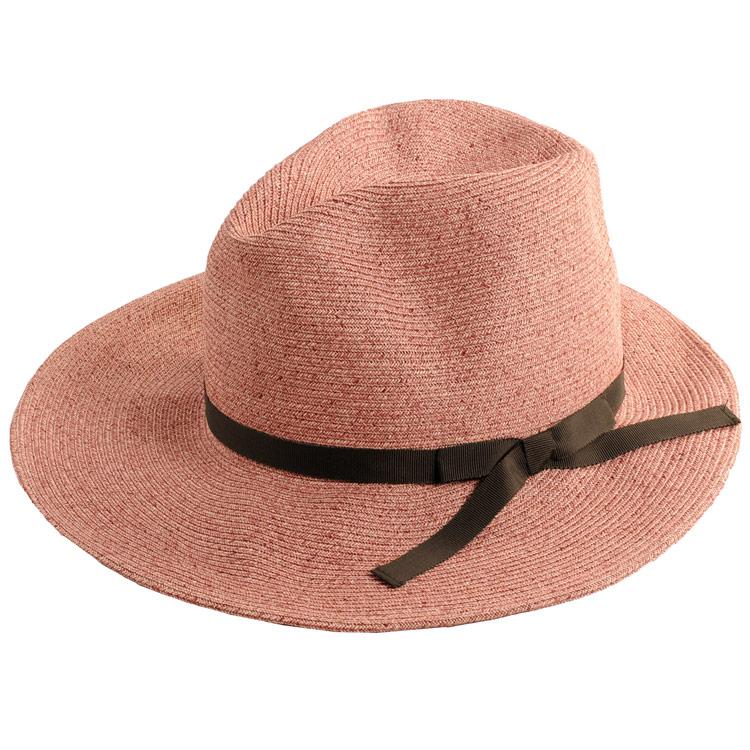 麦わら ピンク 日よけ 帽子 ハット 夏 紫外線