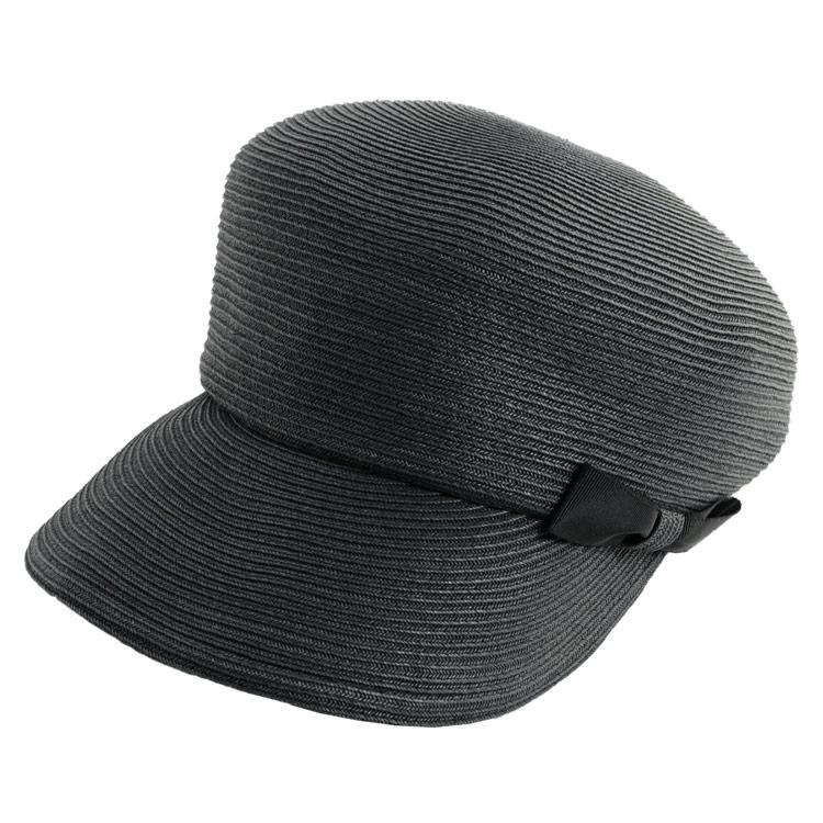 麦わら ブラック 日よけ 帽子 ハット 夏 紫外線