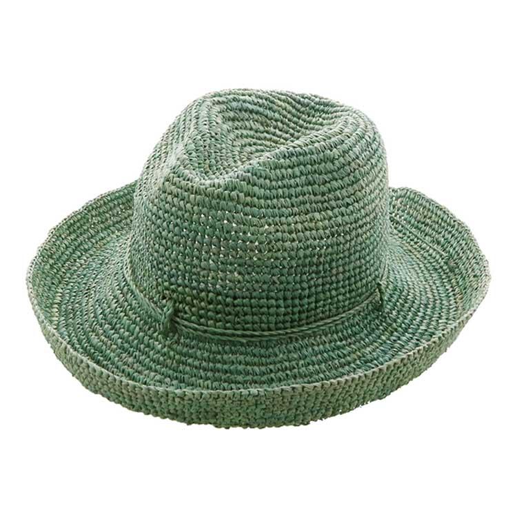 麦わら グリーン 日よけ 帽子 ハット 夏 紫外線