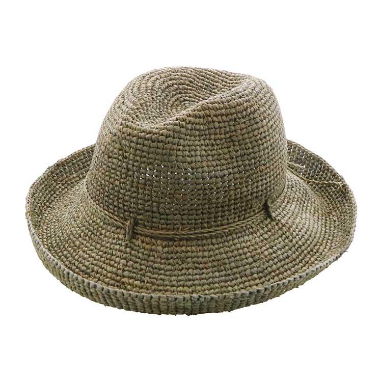 麦わら カーキ 日よけ 帽子 ハット 夏 紫外線