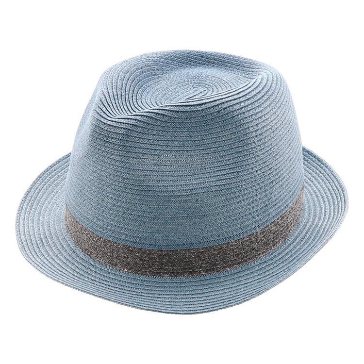 麦わら ブルー 日よけ 帽子 ハット 夏 紫外線