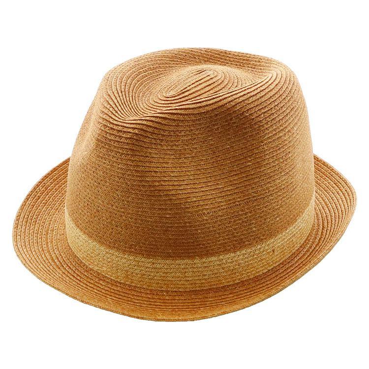 麦わら 茶色 日よけ 帽子 ハット 夏 紫外線