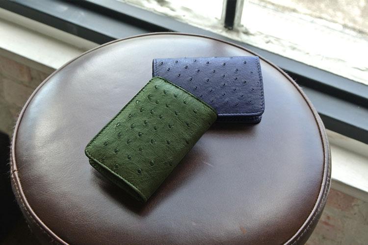 オーストリッチ ボックス型 小銭入れ レディース財布