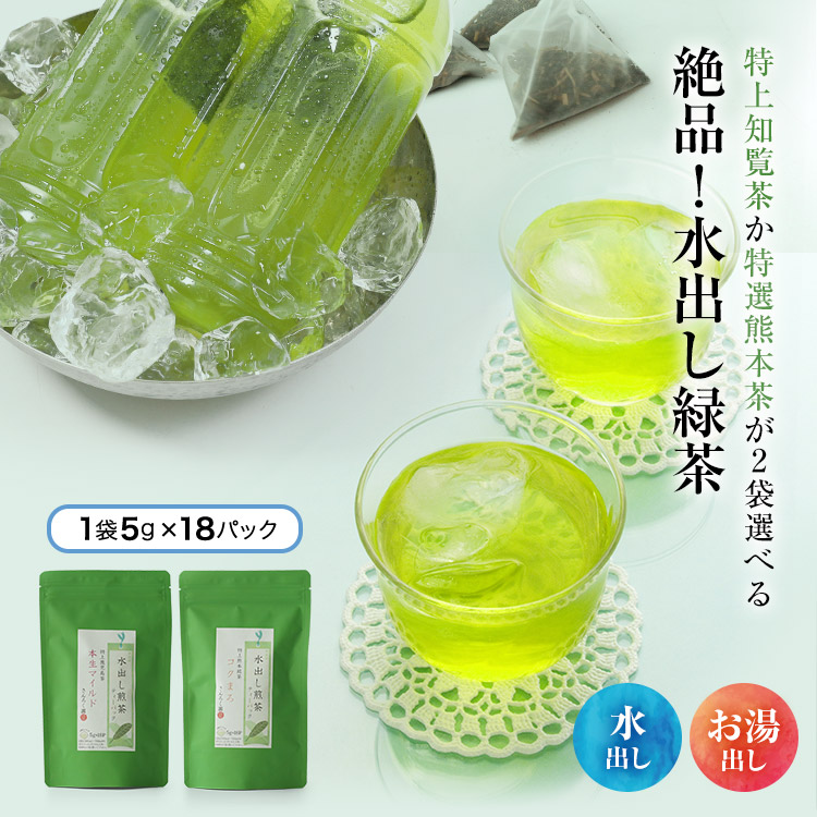 特上知覧茶か特選熊本玉緑茶が選べる 絶品 水出し茶