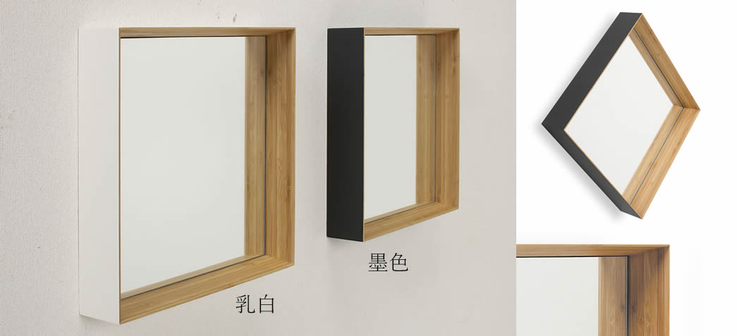 TEORI テオリ インテリアミラー 壁掛けミラー ZERO KAKU ゼロカク 角形
