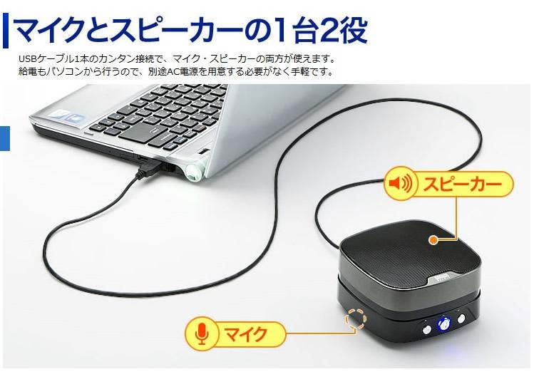 広範囲の集音が可能な高感度マイクユニットを採用。多人数での会議もスムーズに行えます。