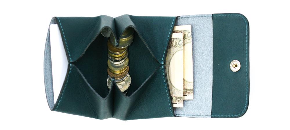 くるみボタン財布 中
