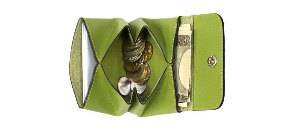 くるみボタン財布 小