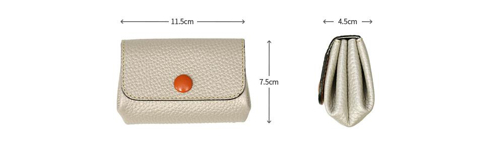 くるみボタン財布
