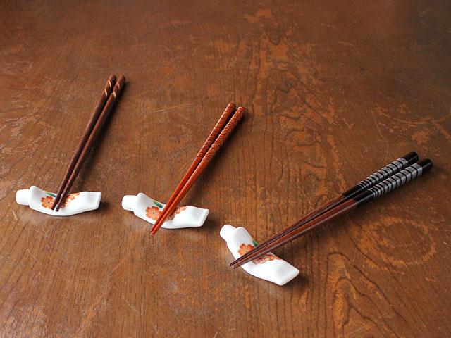 桜絵チューブ型箸置き