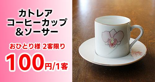 【おひとり様2個まで1個100円】カトレア コーヒーカップ&ソーサー